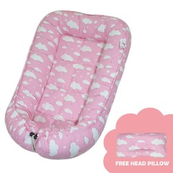 Babycuddle Bed Big  Pink Clouds image here