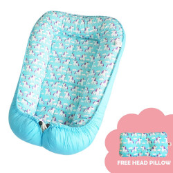 Babycuddle Bed Little Unicorn in Blue,BB LITTLE UNICORN IN BLUE image here