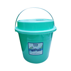Easy Living, Pail With Cover 16L, Green, EL-001PCG image here