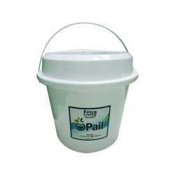 Easy Living, Pail With Cover 16L, White,EL-001PCW image here