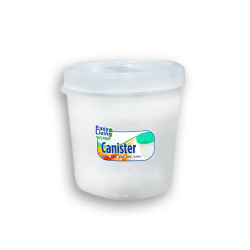 Easy Living, Canister With Spoon Small 600ml, White, EL-003W image here