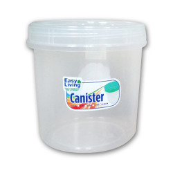 Easy Living, Canister With Spoon Large Transparent 1700ml, EL-005T image here