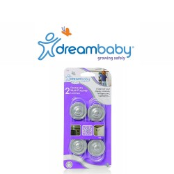 Dreambaby Mini Multi-Purpose Latches (Pack of 2) - Silver,F1008 image here