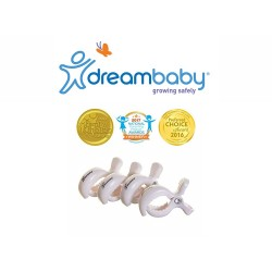Dreambaby Stroller Clips 4 Pack - White,F2210 image here