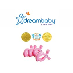 Dreambaby Stroller Clips 4 Pack - Pink,F2213 image here