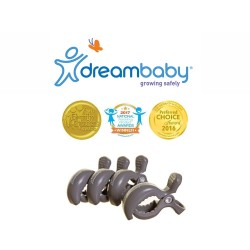 Dreambaby Stroller Clips 4 Pack - Grey,F2214 image here