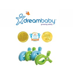 Dreambaby Stroller Clips 4 Pack - Blue and Green,F2219 image here