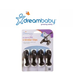 Dreambaby Stroller Clips 4 Pack - Black,F2211 image here