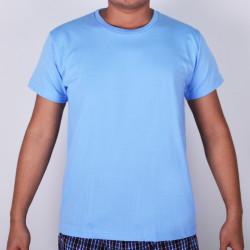 SUNJOY ROUND NECK SHIRT (LIGHT BLUE) image here