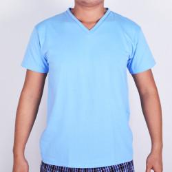 SUNJOY V-NECK SHIRT (LIGHT BLUE) image here