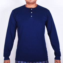 SUNJOY CAMISA LONG SLEEVES (NAVY BLUE) image here