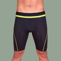 WALKER COMPRESSION ATHLETIC SHORTS (NEON YELLOW) image here