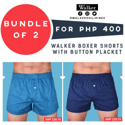 Walker Boxer Shorts with Button Placket Bundle of 2 (Acid Blue, Navy Blue) image here