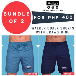 Walker Boxer Shorts with Drawstring Bundle of 2 (Acid Blue, Navy Blue) image here