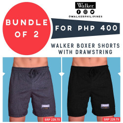 Walker Boxer Shorts with Drawstring Bundle of 2 (Acid Black, Black) image here