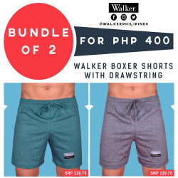 Walker Boxer Shorts with Drawstring Bundle of 2 (Acid Green, Gray) image here