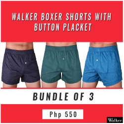 Walker Boxer Shorts with Button Placket Bundle of 3 (Acid Black, Acid Green, Acid Blue) image here
