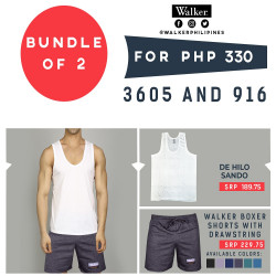 Walker De Hilo Sando and Boxer Shorts Bundle of 2 image here