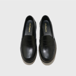 BLACK PENNY LOAFERS BY FERNANDO image here
