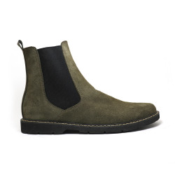 OLIVE GRAY CHELSEA BOOTS BY NINO image here