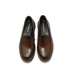 WALNUT PENNY LOAFERS BY FERNANDO image here