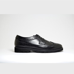 BLACK BROGUES BY AMBROSIO image here