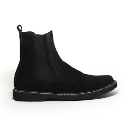 CHARCOAL BLACK CHELSEA BOOTS BY NINO image here