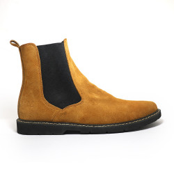 MUSTARD CHELSEA BOOTS BY NINO image here