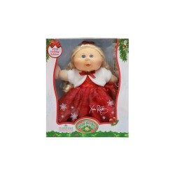 CABBAGE PATCH KIDS HOLIDAY KID BLONDE RED DRESS  image here