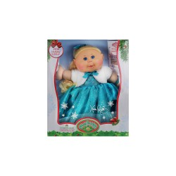 CABBAGE PATCH KIDS HOLIDAY KID BLONDE TEAL DRESS  image here