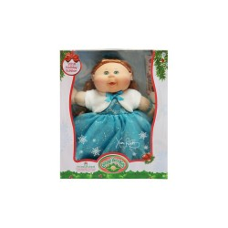CABBAGE PATCH KIDS HOLIDAY KID BRUNETTE TEAL DRESS  image here