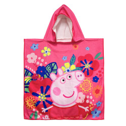 "Peppa Pig Microfiber Hooded Towel 24""x48"",PPMHDT16-01GS image here"