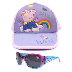 Peppa Pig Rainbow Baseball Cap and Sunglasses,PPYX17-06CG/01GS image here
