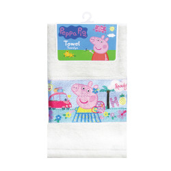 "Peppa Pig Sublimation Print Cotton Hand Towel 12""x20"",PPSHT16-02TC white image here"