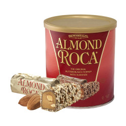 Candy Corner,Brown &Haley Almond Roca Canister 10oz/284g,CE000021 image here