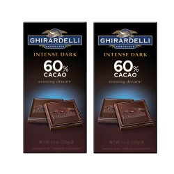 Candy Corner,Ghirardelli Intense Dark Evening Dream 60% Cacao 100g x 2pcs,CE000140 - 2pcs image here