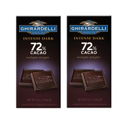 Candy Corner,Ghirardelli Intense Dark Twilight Delight 72% Cacao 100g x 2pcs,CE000142 - 2pcs image here