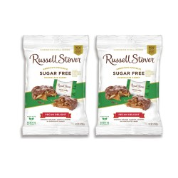 Candy Corner,Russell Stover Sugar Free Pecan Delight Peg Bag 3oz/85g x 2pcs,CE000452 - 2pcs image here