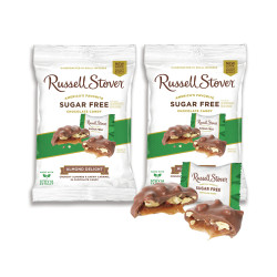 Candy Corner,Russell Stover Sugar Free Almonds Delight Peg Bag 3oz/85g x 2pcs,FG000987 image here