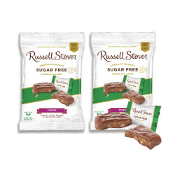 Candy Corner,Russell Stover Sugar Free Toffee Square Peg Bag 3oz/85g x 2pcs,FG000989 image here