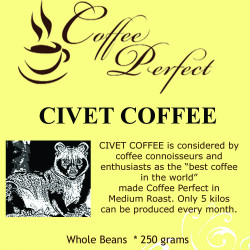 250 grams Coffee Perfect Civet Coffee Whole Beans image here