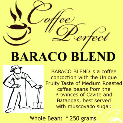 Baraco Blend 250g Whole Beans image here