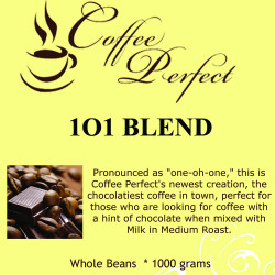 1O1 Blend 1000g Whole Beans image here
