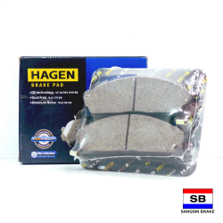 Hagen Premium Brake Pads for Nissan Frontier, Pathfinder, Terrano, and Urvan GP1140 image here