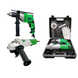 Hoyoma Angle Grinder & Impact Drill COMBO PACK image here