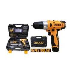 INGCO Cordless Drill 12V 76PCS Tool SET HKTHP10761 image here