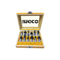 "INGCO Router Bits SET 12pcs 12mm (1/2"") image here"