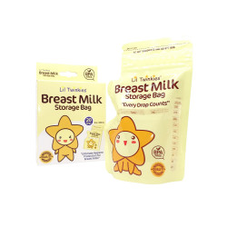 Lil Twinkies?? Breast Milk Storage Bag 20's/ 250ml or 8oz / BPA Free / Freezer Safe image here