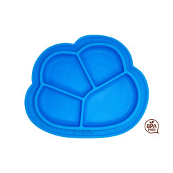 Lil Twinkies® Anti-Slip Silicone Dish Plate / BPA Free / Sterilizer Safe (Blue Color) image here