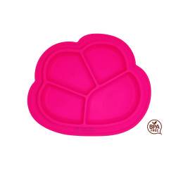 Lil Twinkies?? Anti-Slip Silicone Dish Plate / BPA Free / Sterilizer Safe (Pink Color) image here